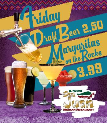 Friday Draft Beer - Margaritas on the Rocks