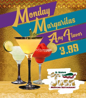 Monday Margaritas Any Flavor