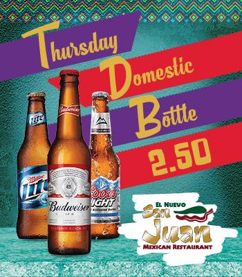 Thursday Domestic Bottle