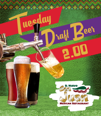 Tuesday Draft Beer